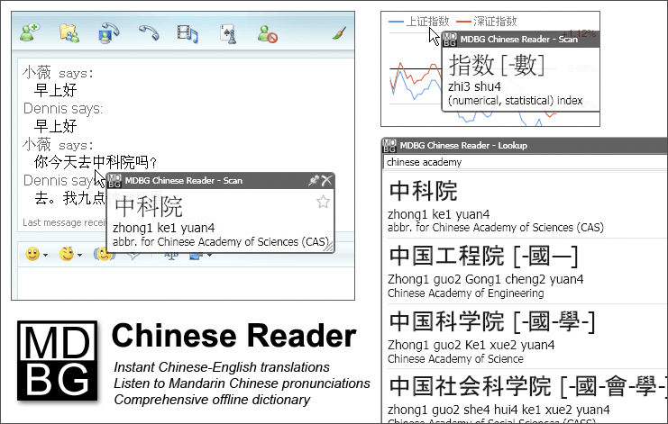 Click to view MDBG Chinese Reader 6.0 screenshot